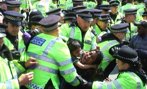 >London Tamil Protest Policing Questioned