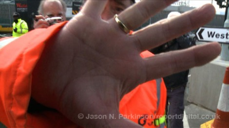 Guardian Video: Olympic Park security staff obstruct journalists on public highway