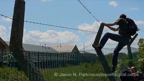 Protestors Tear Down Yarls Wood Fences
